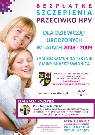 Plakat Szczpienia przeciwko HPV
